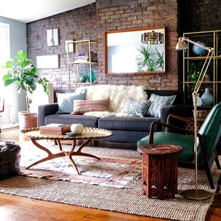 Layered Rug in Room