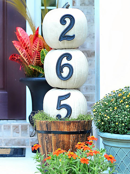Fall Pumpkins House Numbers