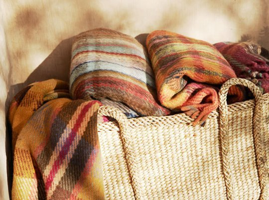Warm basket blankets