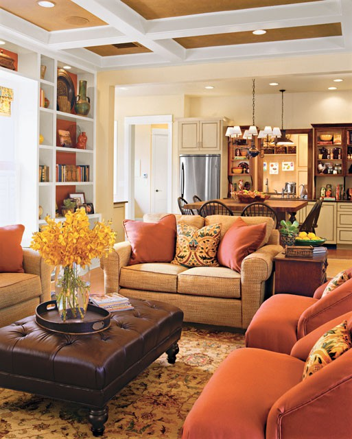 Warm fall family room