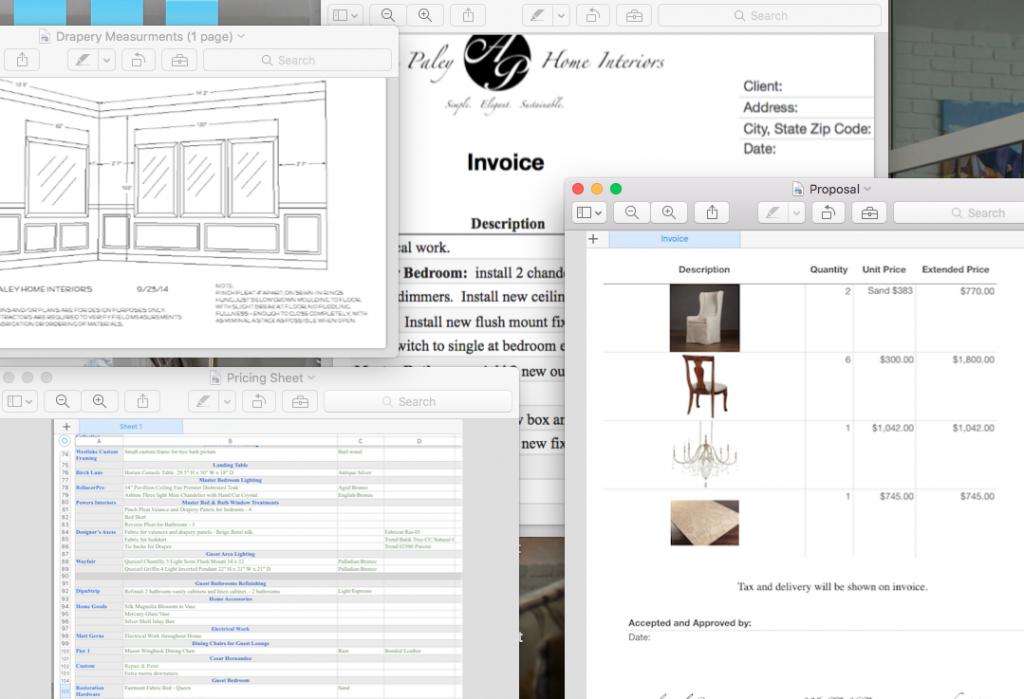 Interior Designer Paperwork
