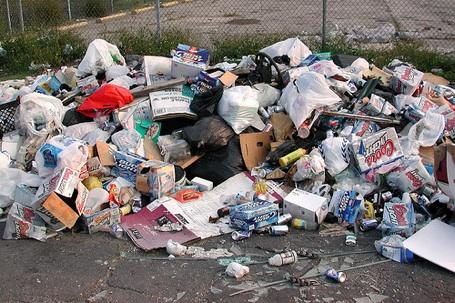 packaging trash